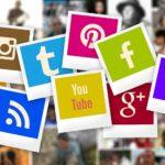 Een overzicht van diverse sociale media kanalen in polaroids