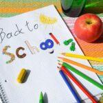 Deze afbeelding illustreert het terug naar school gaan van mijn kinderen.