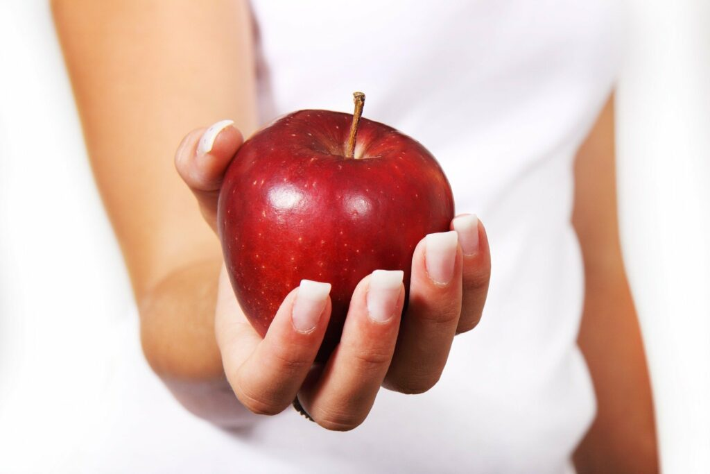Deze illustratie van een appel staat symbool voor de titel van deze blog die over preventie gaat