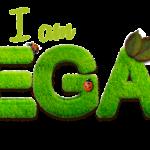 Een toepasselijk illustratie van mijn blog over veganisme met de tekst 'I am vegan'